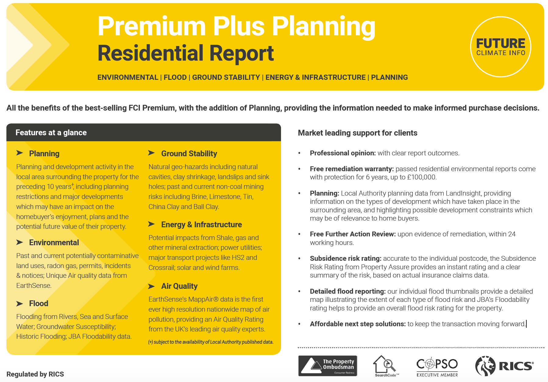 FCI launch new Planning report header image