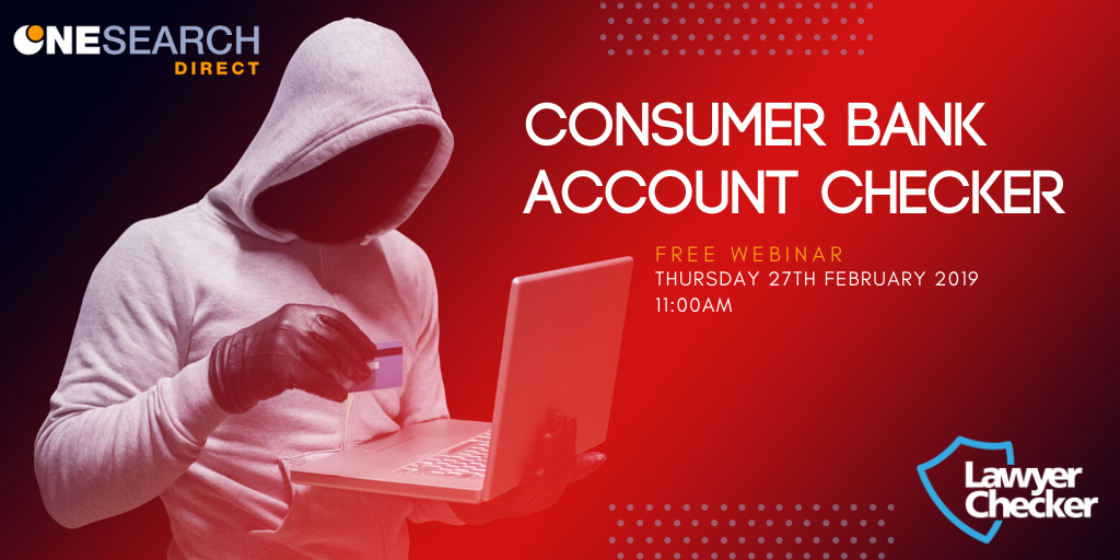Free Webinar | Consumer Bank Account Checker header image