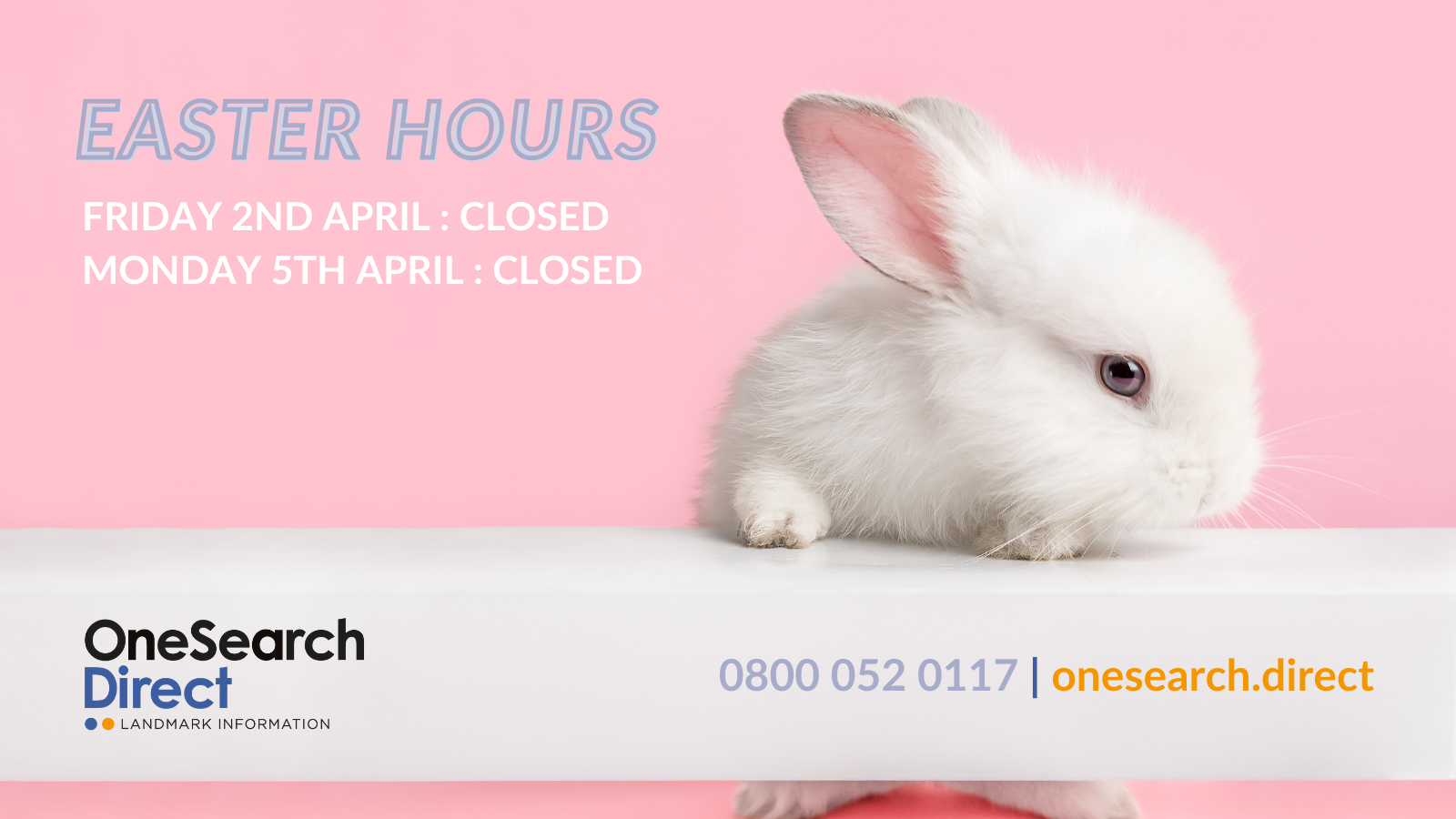 Easter 2021 Opening Hours header image