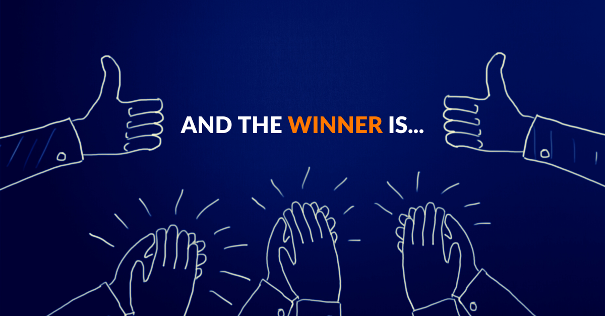 Congratulations to our winner! heading image