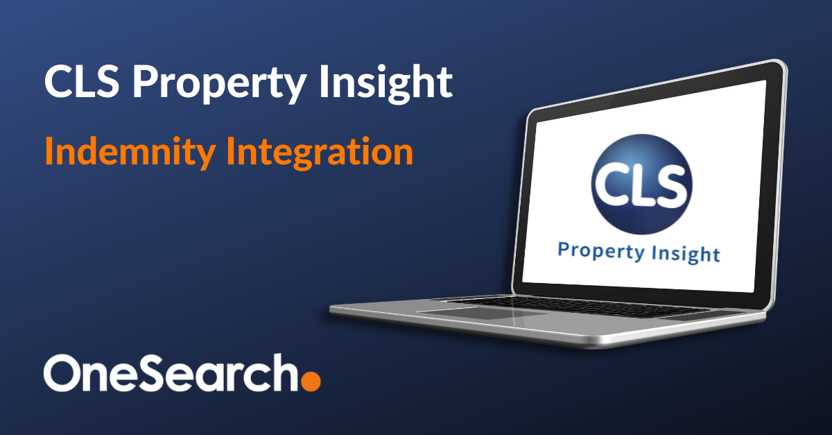 OneSearch expand offering with CLS Property Insight indemnity integration header image